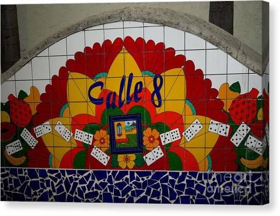 Calle Ocho Cuban Festival Miami Canvas Print