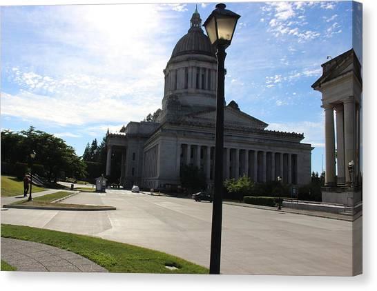 Washington Capitals Canvas Print - Capital Hill, Olympia Washington by Zachary Lowery