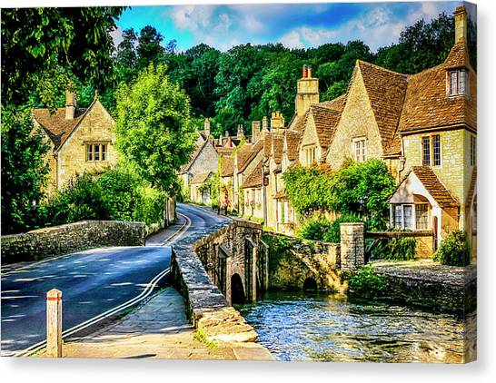 Castle Combe Village, Uk Canvas Print