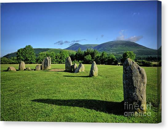 Keswick Canvas Print - Castlerigg Stone Circle by Smart Aviation