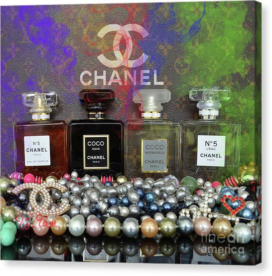 Jimmy Choo Canvas Print - Chanel  Abstract by To-Tam Gerwe