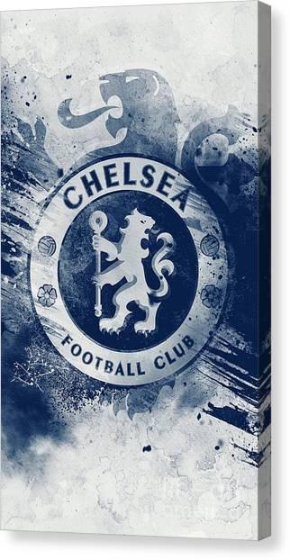 Chelsea Fc Canvas Print - Cheslsea by Santo Mani