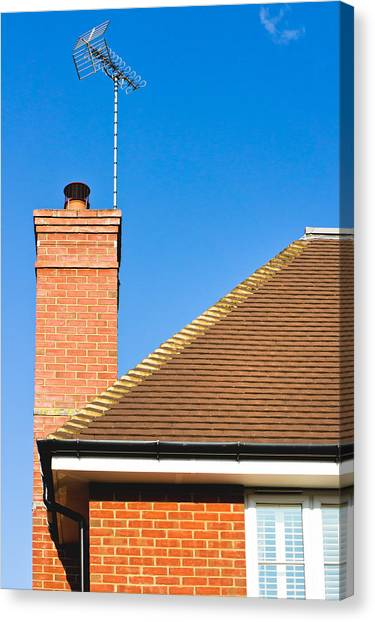 Chimney Tops Canvas Print - Chimney by Tom Gowanlock