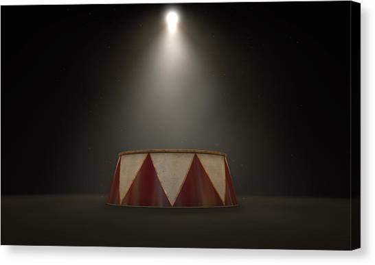 The Amphitheatre Canvas Print - Circus Podium Spotlit by Allan Swart