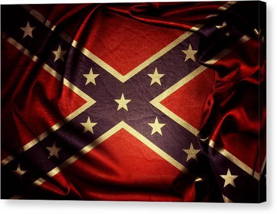 Confederate Flag 6 Canvas Print