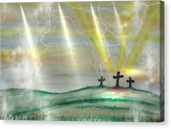 Canvas Print - 3 Crosses by Pamula Reeves-Barker