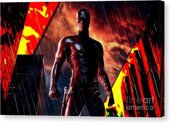 Ben Affleck Canvas Print - Daredevil Collection by Marvin Blaine