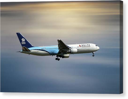 Deltas Canvas Print - Delta Air Lines Boeing 767-332 by Smart Aviation
