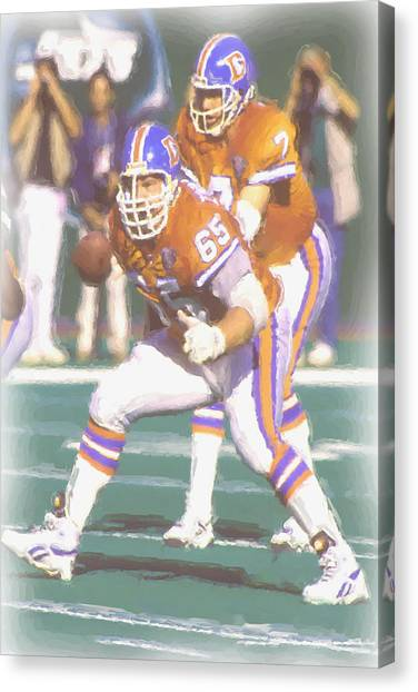 John Elway Canvas Print - Denver Broncos John Elway by Joe Hamilton