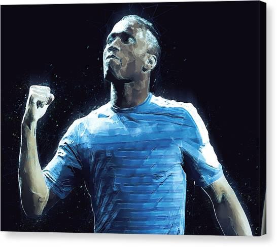 Eden Hazard Canvas Print - Didier Drogba by Semih Yurdabak