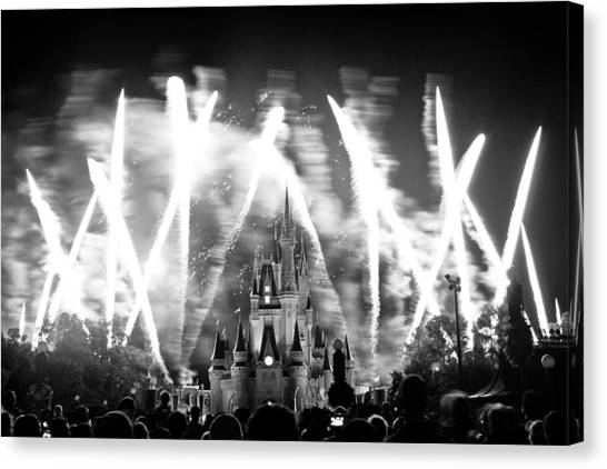 Canvas Print - Disney Castle At Night by Fizzy Image