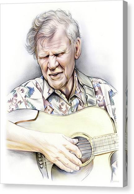 Bluegrass Canvas Print - Doc Watson by Greg Joens