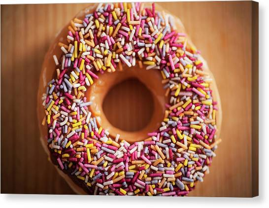 Doughnuts Canvas Print - Donut And Sprinkles by Samuel Whitton