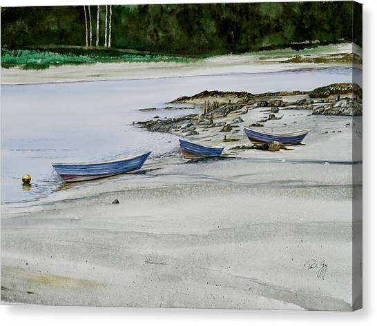 3 Dories Kennebunkport Canvas Print