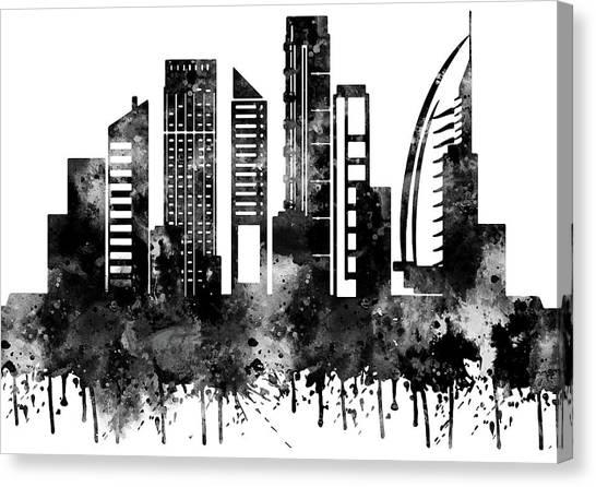 Dubai Skyline Canvas Print - Dubai by Rosalia S