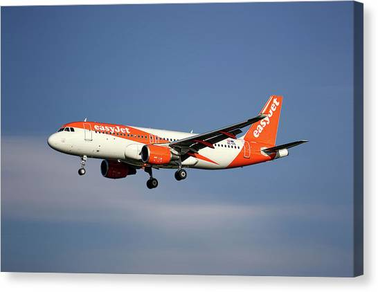 Jet Canvas Print - Easyjet Airbus A320-214 by Smart Aviation
