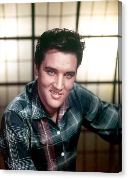 Elvis Canvas Print - Elvis Presley by Everett