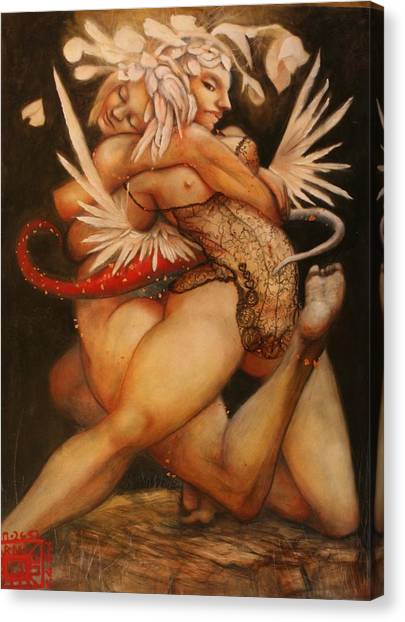 Embrace Of The Virgosis Canvas Print by Ralph Nixon Jr