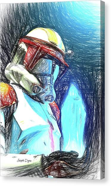Leia Organa Canvas Print - Execute Order 66 - Sketch Style by Leonardo Digenio