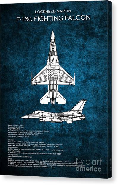 F16 Canvas Print - F16 Fighting Falcon by J Biggadike