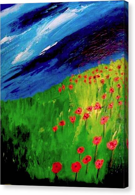 field of Poppies Canvas Print by Misty VanPool