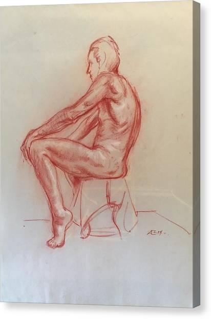 Figure Study Canvas Print by Alejandro Lopez-Tasso