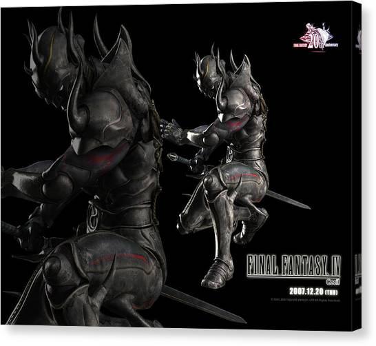Final Fantasy Canvas Print - Final Fantasy Iv by Mery Moon