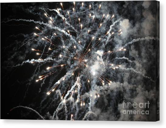 Fireworks Canvas Print by Diane Falk
