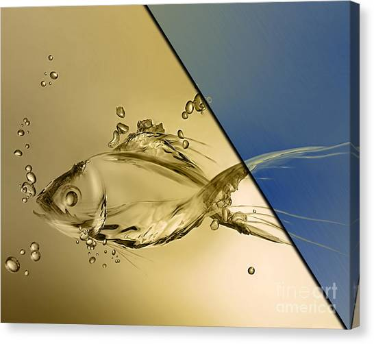 Sharks Canvas Print - Fish Collection by Marvin Blaine