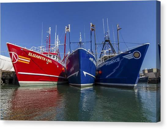 3 Fishing Boats Canvas Print