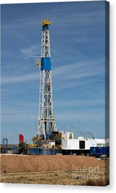 Fracking Canvas Print - Flex Drill Rig by Inga Spence