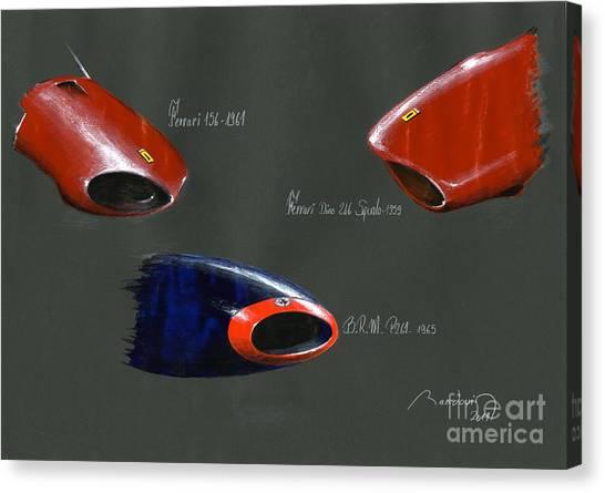 Cobra Canvas Print - 3 Formula 1 Noses 1959-1965 by Alain Baudouin