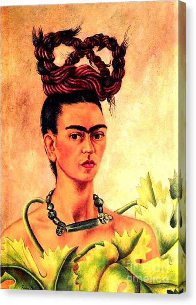 Frida Kahlo Self Portrait Canvas Print
