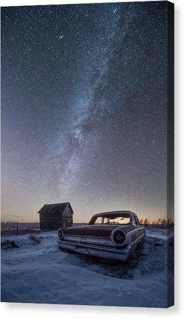 Andromeda Canvas Print - 3 Galaxies  by Aaron J Groen