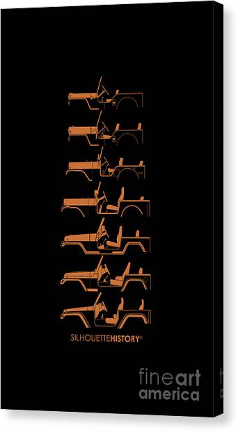 Offroading Canvas Print - General Purpose Silhouettehistory by Balazs Iker