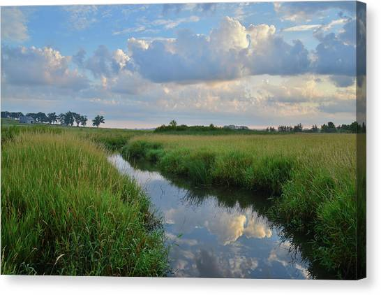 Prairie Sunrises Canvas Print - Glacial Park Sunrise by Ray Mathis