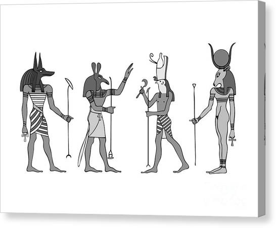 Archeology Canvas Print - Gods Of Ancient Egypt by Michal Boubin