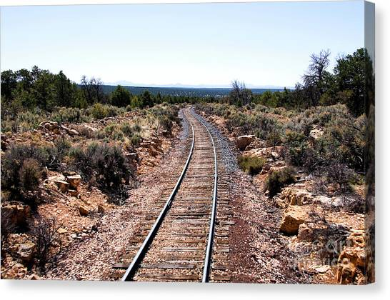 Thomas The Train Canvas Print - Grand Canyon Railway by Thomas R Fletcher