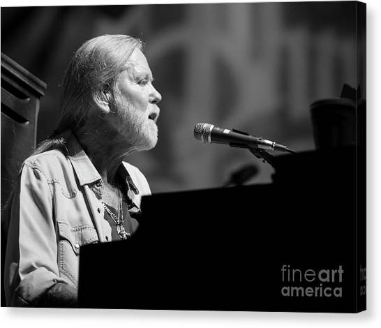 The Allman Brothers Canvas Print - Gregg Allman With The Allman Brothers Band by David Oppenheimer