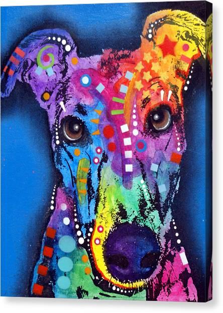 Greyhound Canvas Print