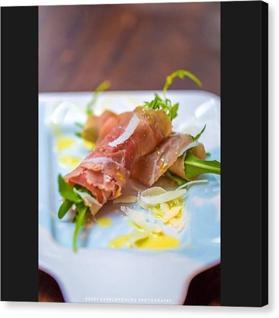 Greek Art Canvas Print - Rucola Wrapped In Prosciutto  by Harry Kanelopoulos Photography