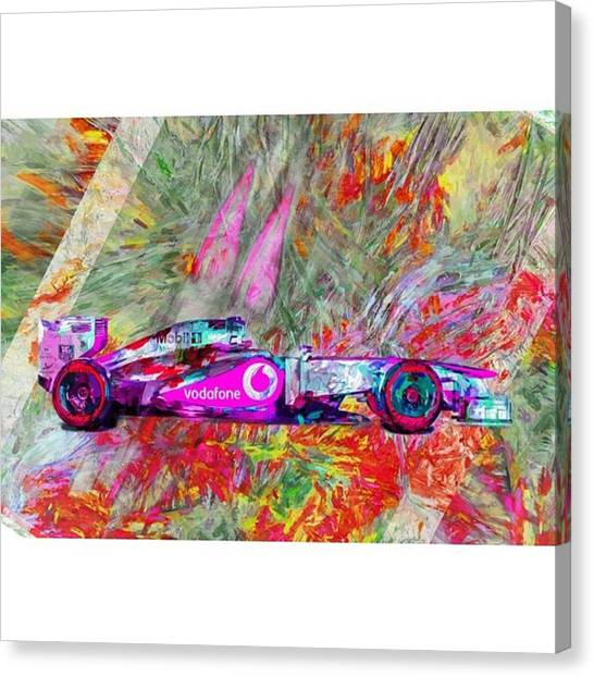 Racing Canvas Print - #helmuth #mariokart @team_penske by David Haskett II