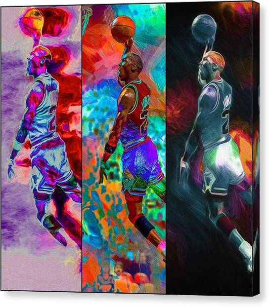 Basketball Canvas Print - I'm Not Only The Shit But The Toilet & by David Haskett II