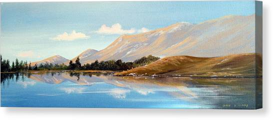 Inagh Valley Reflections Canvas Print by Cathal O malley