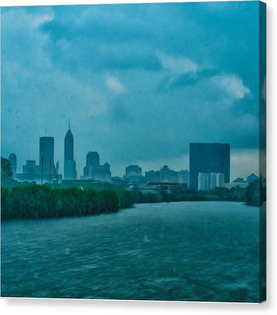 Storms Canvas Print - #indy #indiana #indianapolis by David Haskett II
