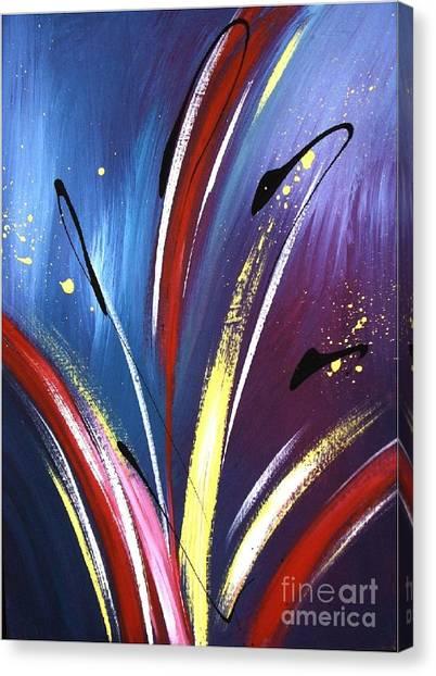 Iris In Space Canvas Print