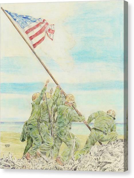 Iwo Jima Canvas Print by Dennis Larson