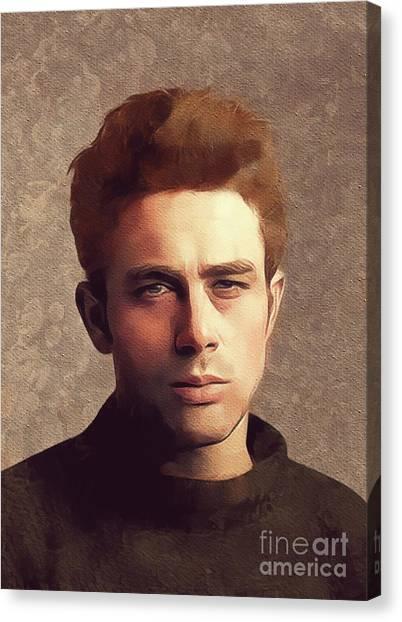 James Dean Canvas Print - James Dean, Hollywood Legend by Mary Bassett