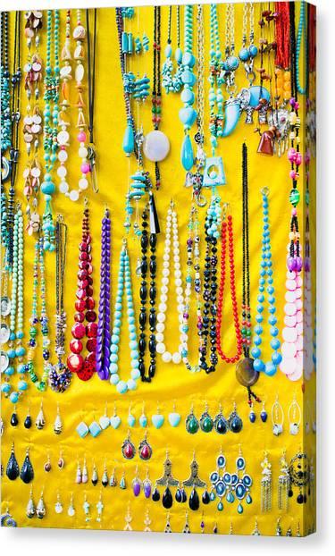 Fleas Canvas Print - Jewellery by Tom Gowanlock