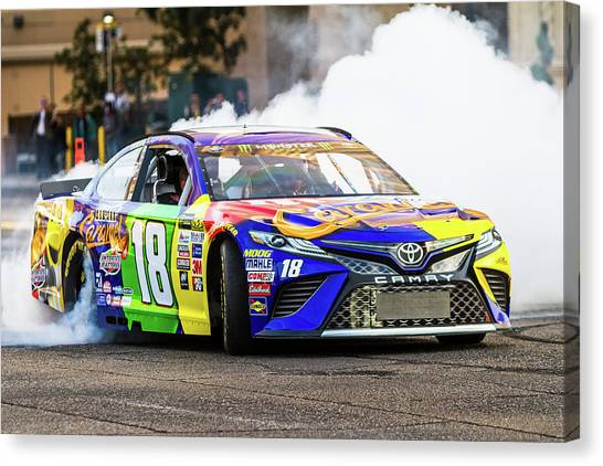 Kyle Busch Canvas Print - Kyle Busch  by James Marvin Phelps